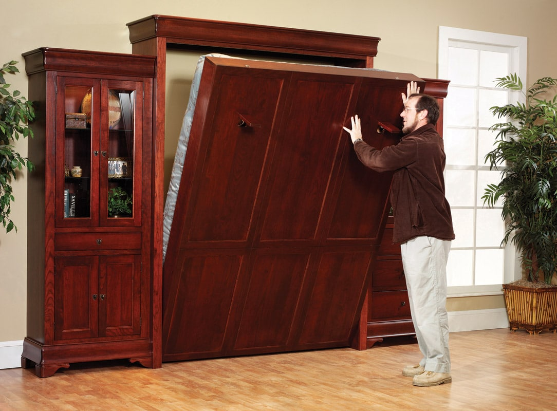 Twin Murphy Bed Hampton Wall Bed - Murphy Beds Of San Diego