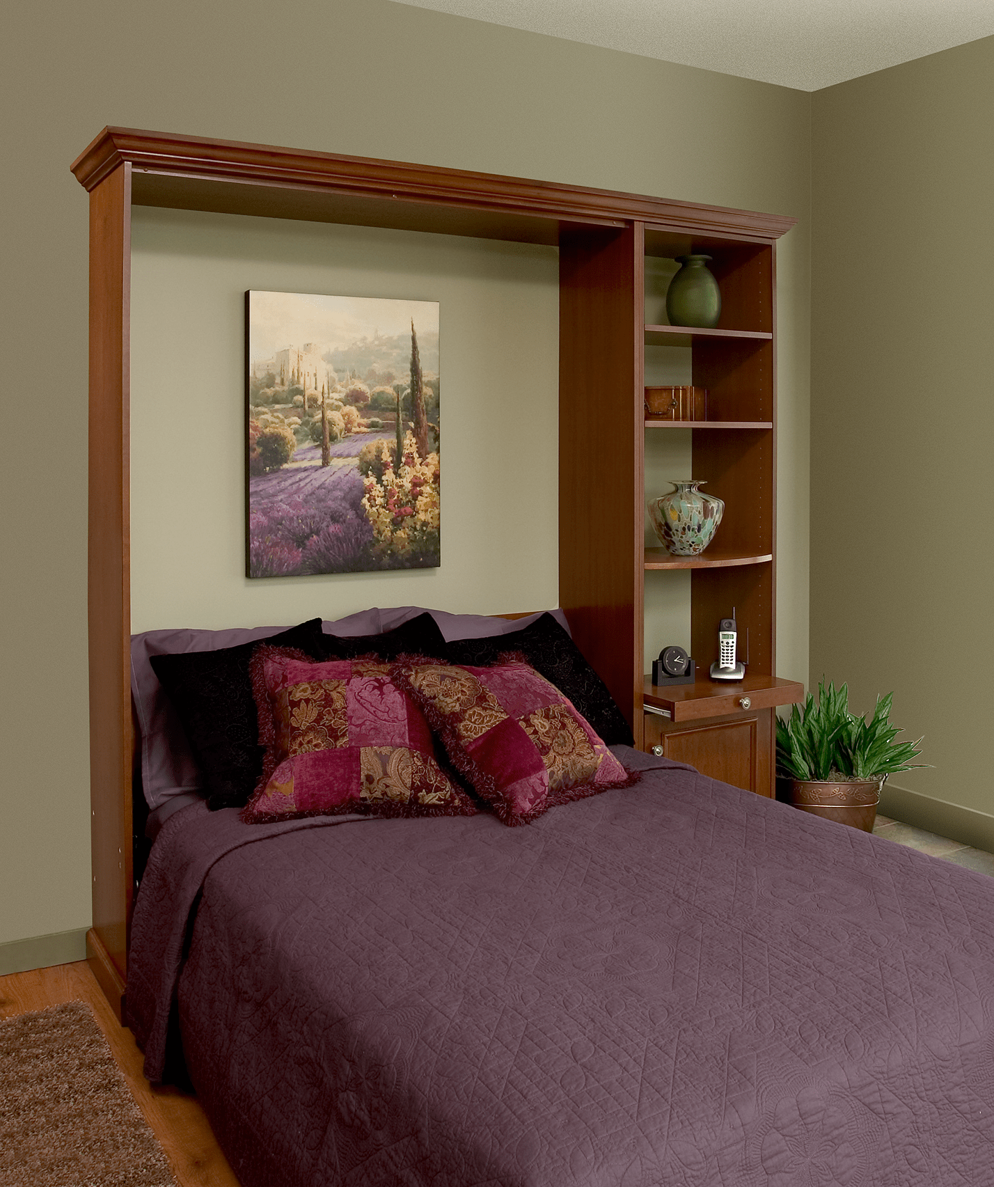 Tiltaway Beds Deepcove Model Cherry Veener Murphy Bed Unit