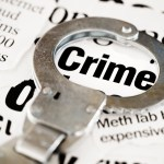 Handcuff outlining the word Crime Murphy, Campbell, Alliston & Quinn