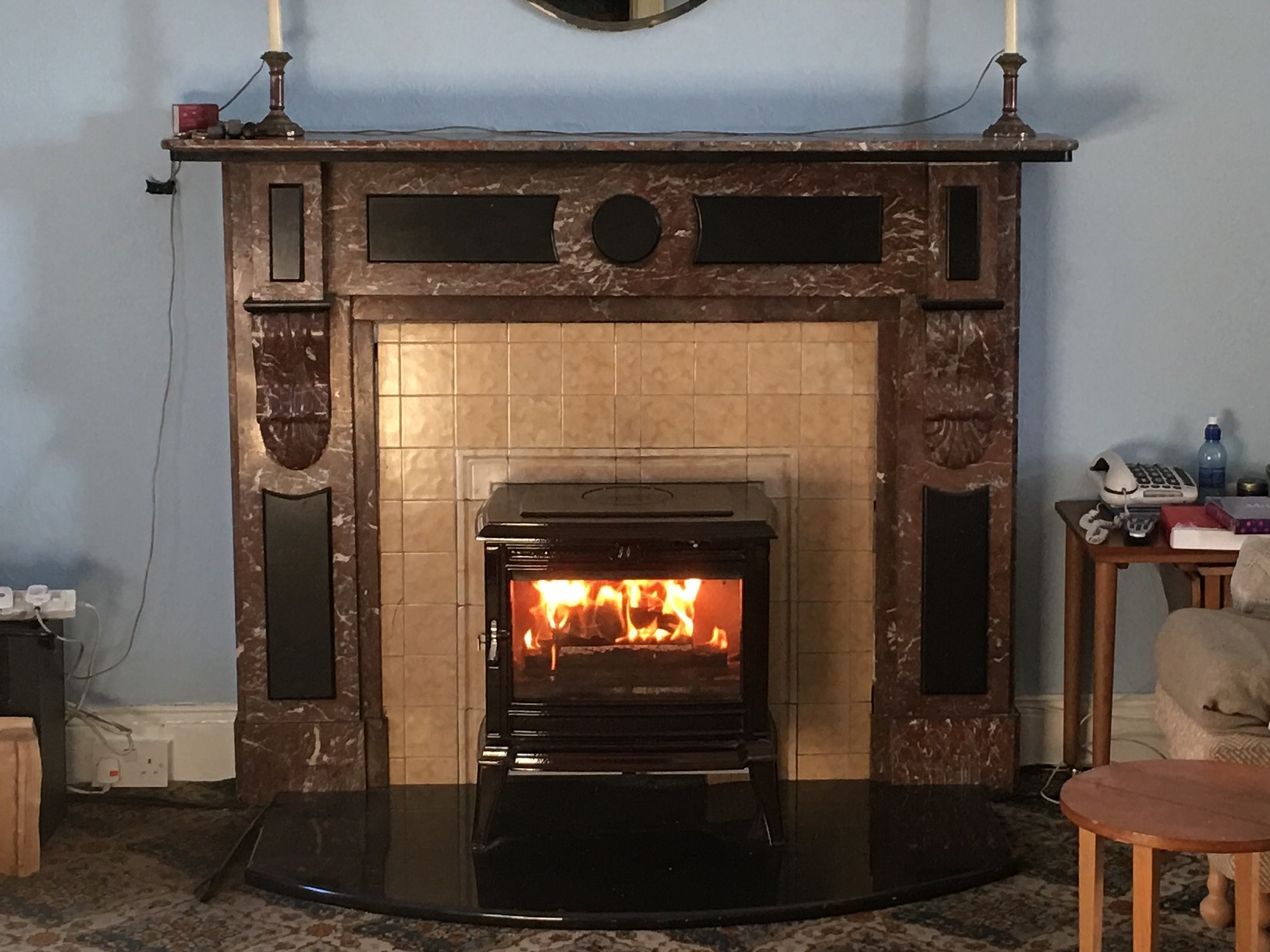 Franco Belge Monoco Fitted Into Existing Fireplace With