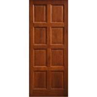 External Door Mahogany Timber Solid 8 Panel(004)