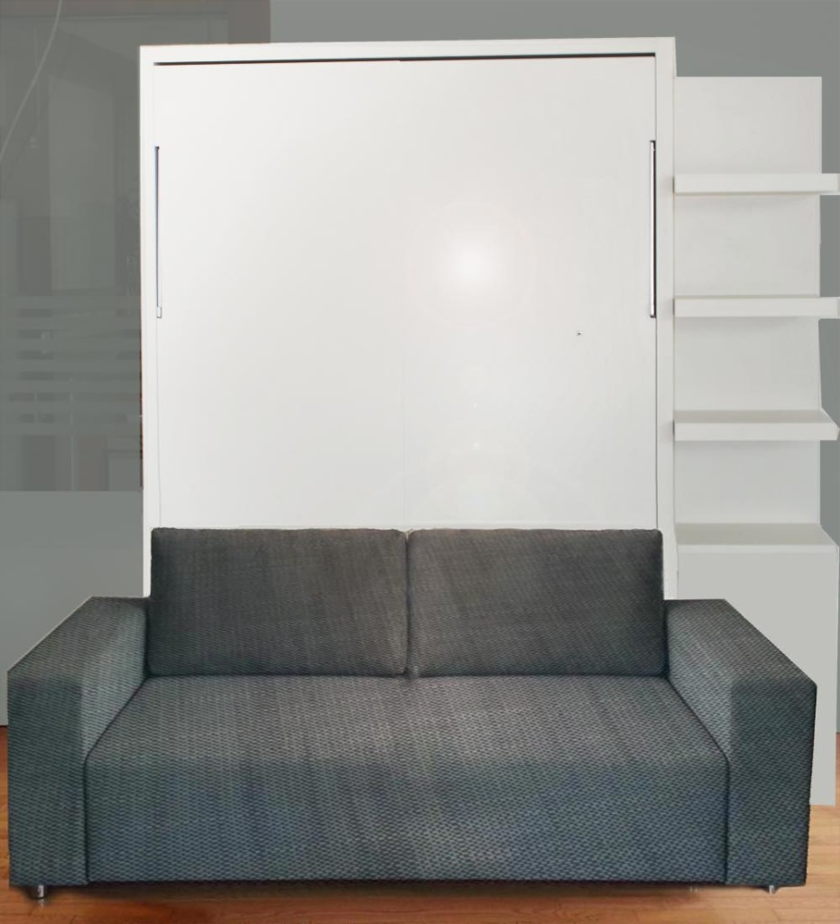 Wall Bed With Sofa Gloss Finish Ultra Light Vancouver Based