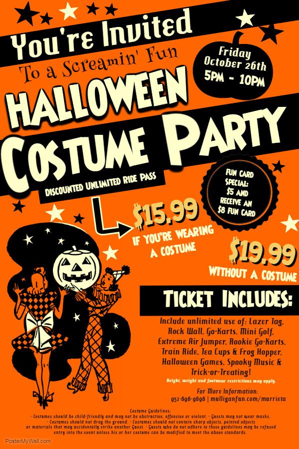 Costume Party Flyer 2 - Murrieta