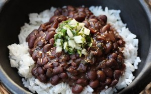 21 beans and rice