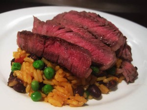 29 rice beans and steak