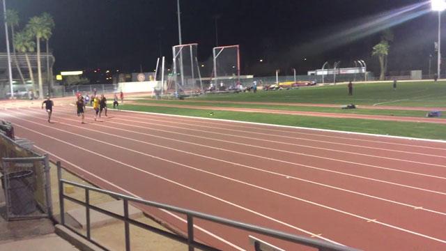 muscle god samson 100m sprint