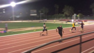 muscle god samson 100m sprint