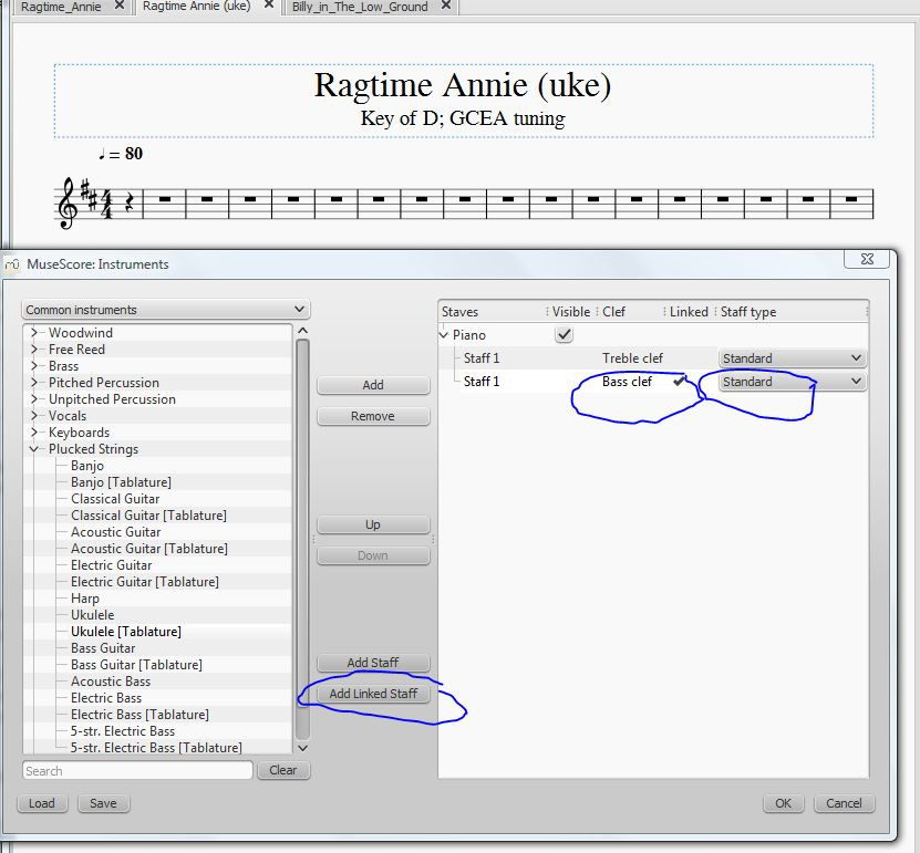 Linked Staff not working (for me) MuseScore