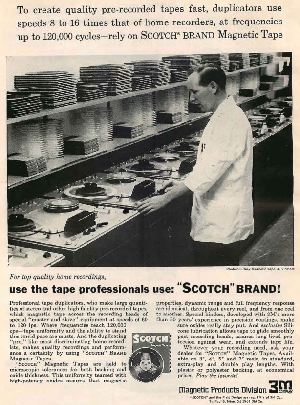 Scotch 3m Reel To Reel Tape Recorder Manufacturers - Wollensak • 3m