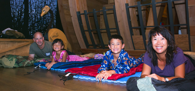 Spend the night in Noah's Ark at the Snowy Day Family Sleepover (photo by Bebe?)