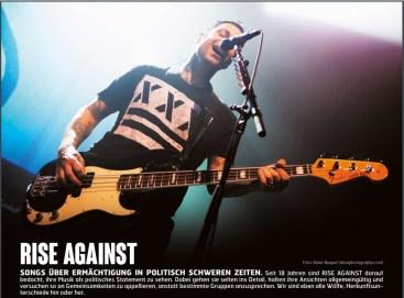Rise Against, Fuze Magazin 64 JUN/JUL 17, http://fuze-magazine.de