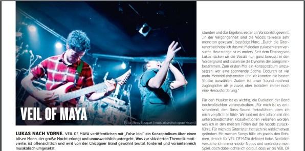 Veil Of Maya, Fuze Magazin 66 OCT/NOV 17, http://fuze-magazine.de
