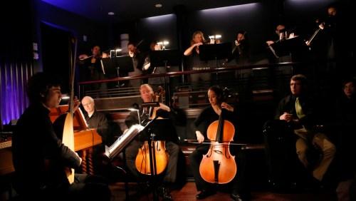 Haymarket Opera Orchestra, Craig Trompeter (center)