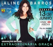 """Aline Barros anuncia data de gravação do DVD """"Extraordinária Graça""""; Assista"""