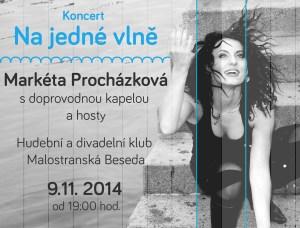 Pozvánka na první koncert Markéty Procházkové
