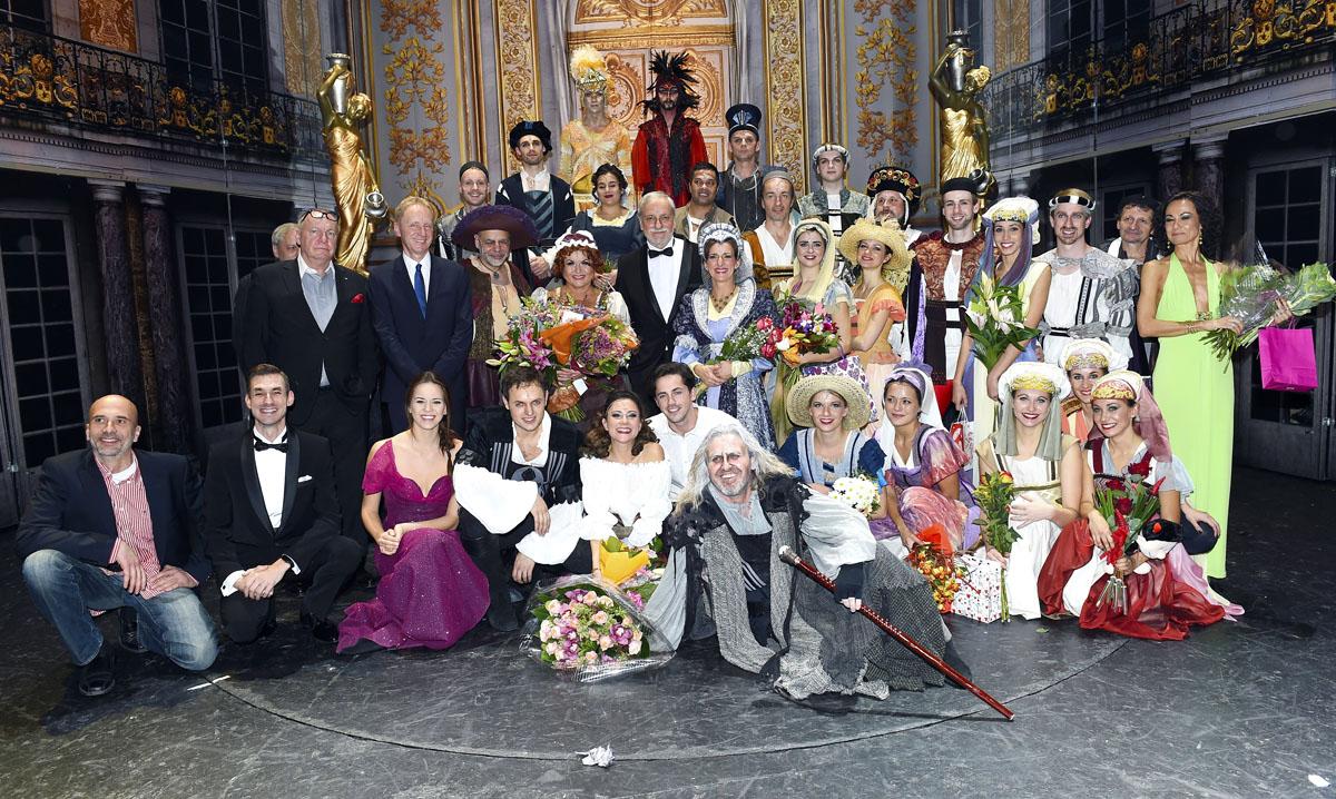 Tvůrci a herci po slavnostní premiéře muzikálu