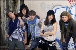 Hedvika s kolegy z muzikálu RENT
