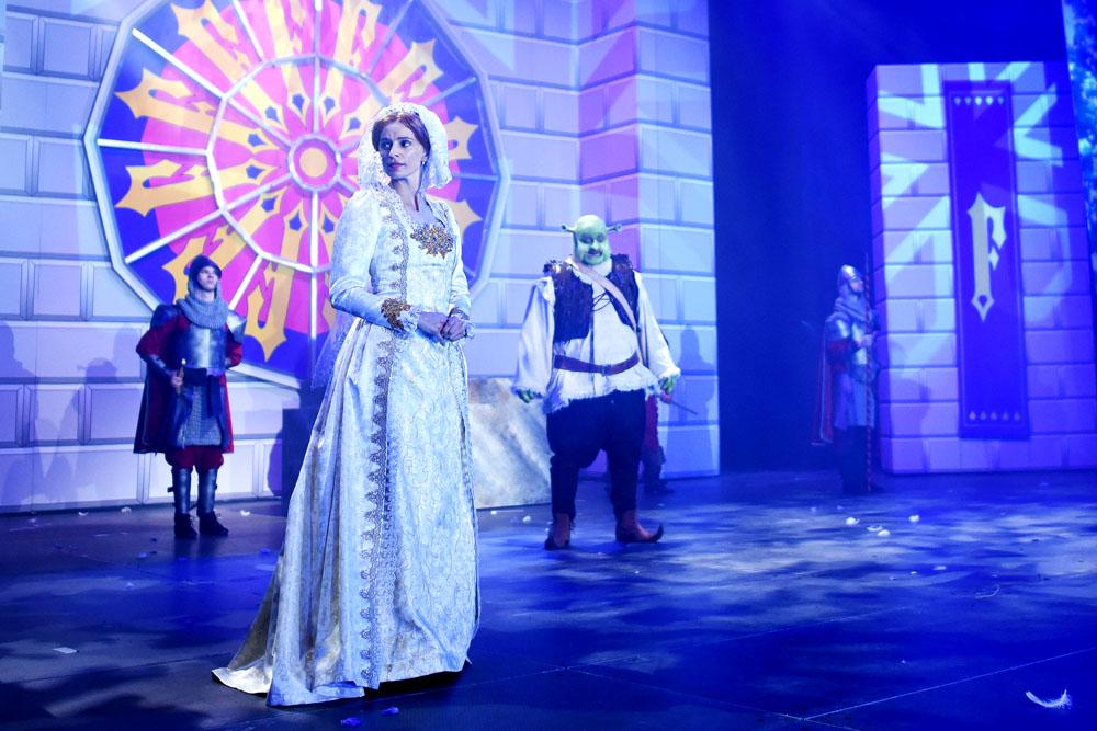 Princezna Fiona (Ivana Jirešová) a Shrek (Jiří Zonyga)