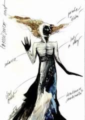 Návrh kostýmu - čarodějnice (Lucie Loosová)
