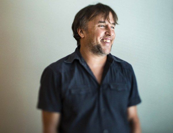 "***SUNDAY CALENDAR  STORY FOR JULY 6, 2014. DO NOT USE PRIOR TO PUBLICATION********** LOS ANGELES, CA -- June 16, 2014-- Film director Richard Linklater is photographed in advance of his new film, ""Boyhood,"" at the SLS Hotel in Los Angeles, June 16, 2014. Linklater made the film over 13 years, documenting actor Ellar Coltrane from age 5 through 18, also staring Patricia Arquette and Ethan Hawke.  (Jay L. Clendenin / Los Angeles Times)"