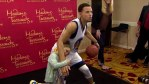 RILEY CURRY MEETS HER DAD STEPHEN'S WAX STATUE!