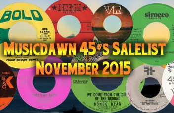 Musicdawn 45s Salelist November 2015