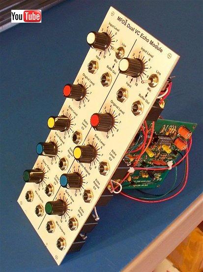 MFOS ECHOFXXX Voltage Controlled Echo Module Schematic
