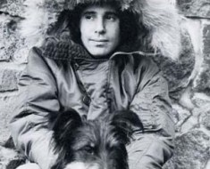 Paul Simon fur coat and dog 1972