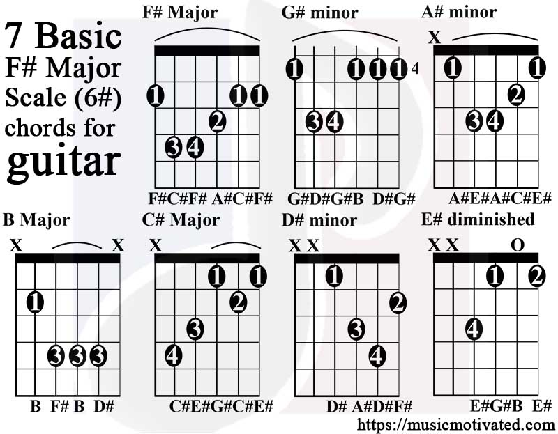 B Major Guitar Chord Choice Image Basic Guitar Chords Finger Placement