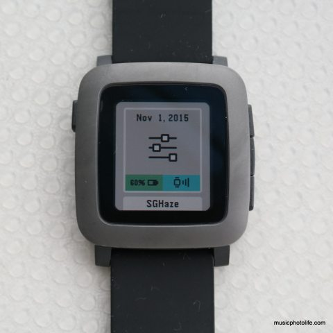Pebble Time Settings screen