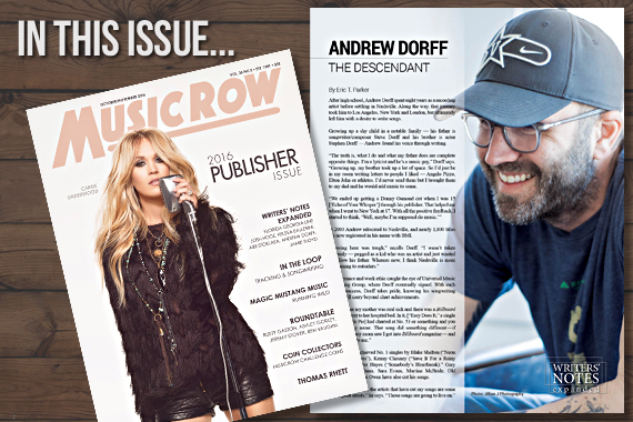 Exclusive Songwriter Andrew Dorff Finds Inspiration In Books, Life