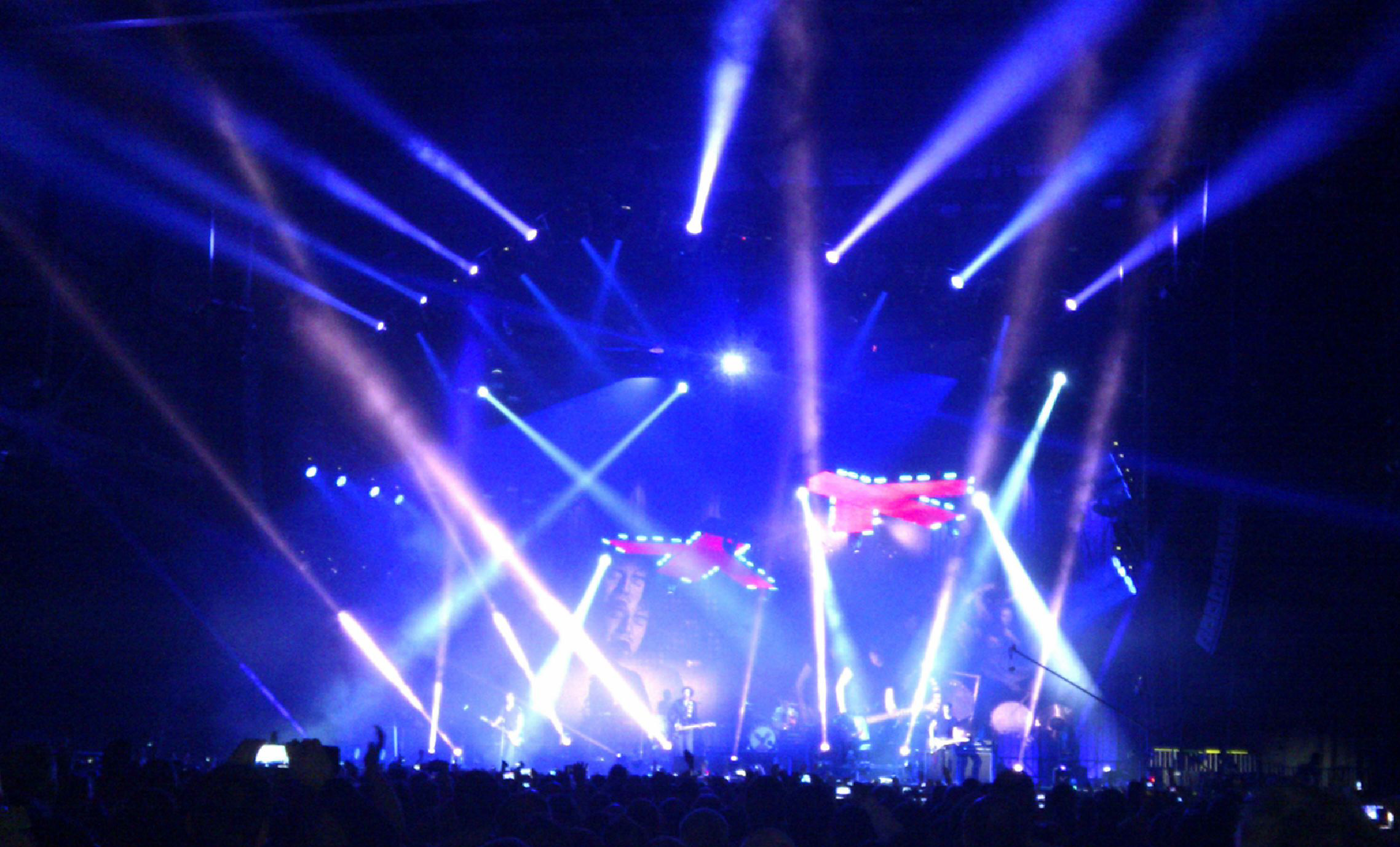 Stage Lighting Effects The overhead lighting rig when