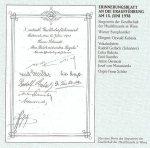 1938 - Erinnerungsblatt zur Uraufführung von