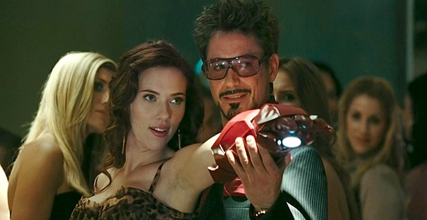 Scarlett Johannson and Robert Downey Jr in Iron Man 2 Robert Downey Jr. Says ScarJo Deserves a Break from Black Widow