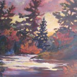 29608 Bass Rock, Muskoka River, 40 x 30 Acrylic on Canvas SOLD