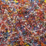 42212 Ode to Riopelle Acrylic on canvas