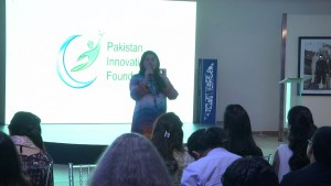 Sharmeen Obaid Chinoy speaking at #DisruptED