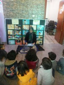 Storytelling in the 'We Love Reading' classroom (courtesy We Love Reading Facebook)