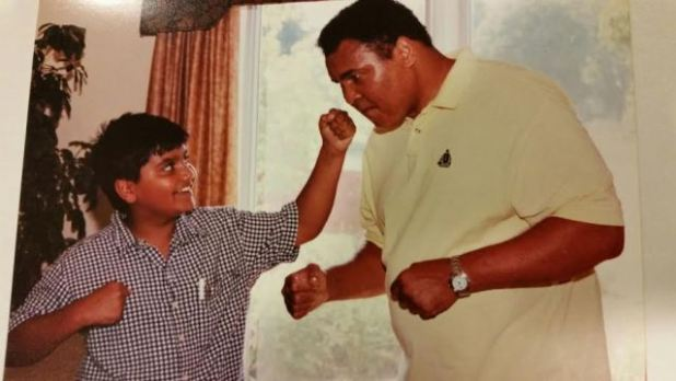 Dr Khutbuddin's son Mairaj and Muhammed Ali.
