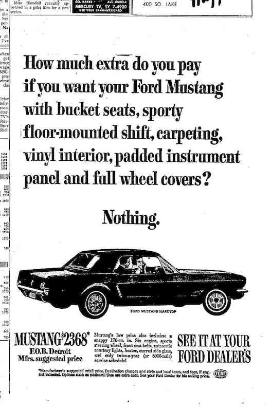 1964 Ford Mustang Ad Jerryu0027s Automotive Group wwwjerrysauto - maintenance director job description
