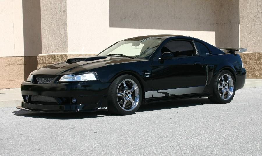 Black 2003 Ford Mustang GT Steeda Coupe - MustangAttitude Photo