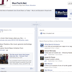 Fusing Music Undergraduates with Web 2.0, Facebook, and MusTech.Net!