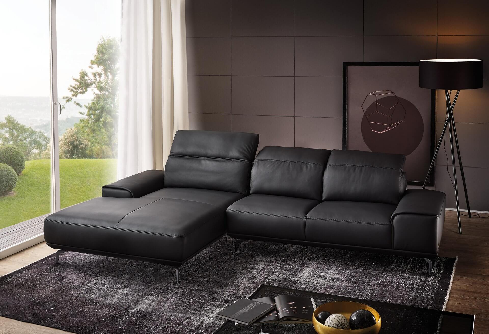Ledersofa Anthrazit Mr 2490 Musterring