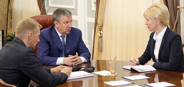 На встрече губернатора с сити-менеджером. Фото: gov.karelia.ru