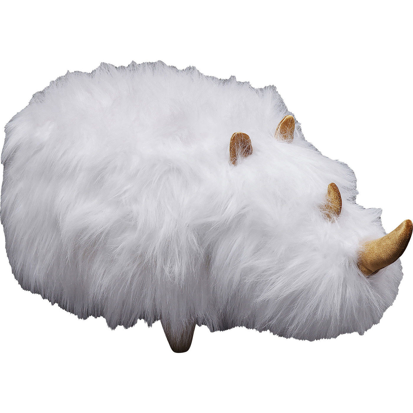 Kare Design Hocker Fell Hocker Rhino Fur White