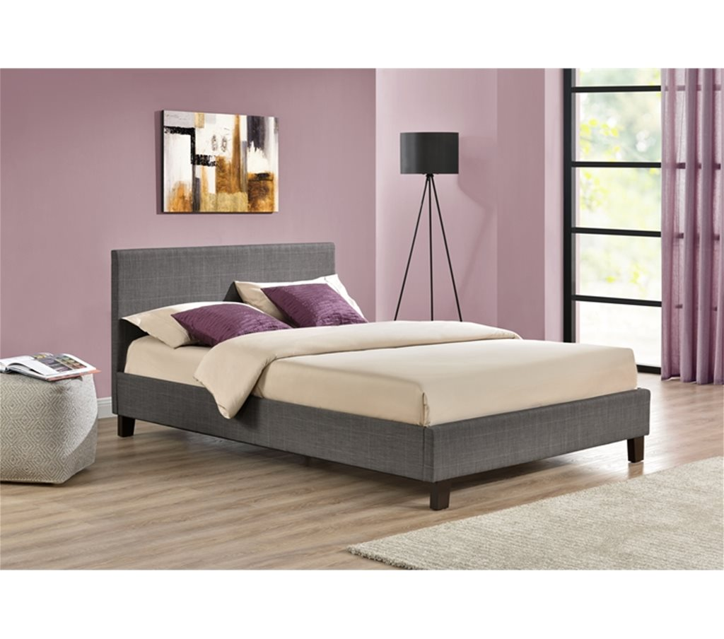 4ft 6 Bed 4ft 6 Inch Berlin Grey Fabric Bed Frame Mutual
