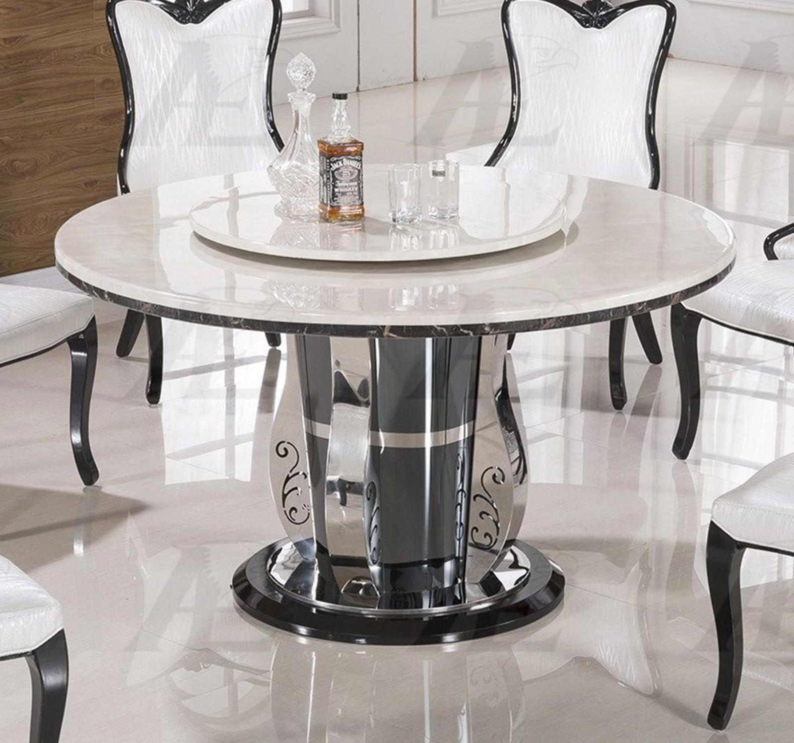 Round Marble Top Dining Table White Marble Top Round Dining Set Shop For Affordable