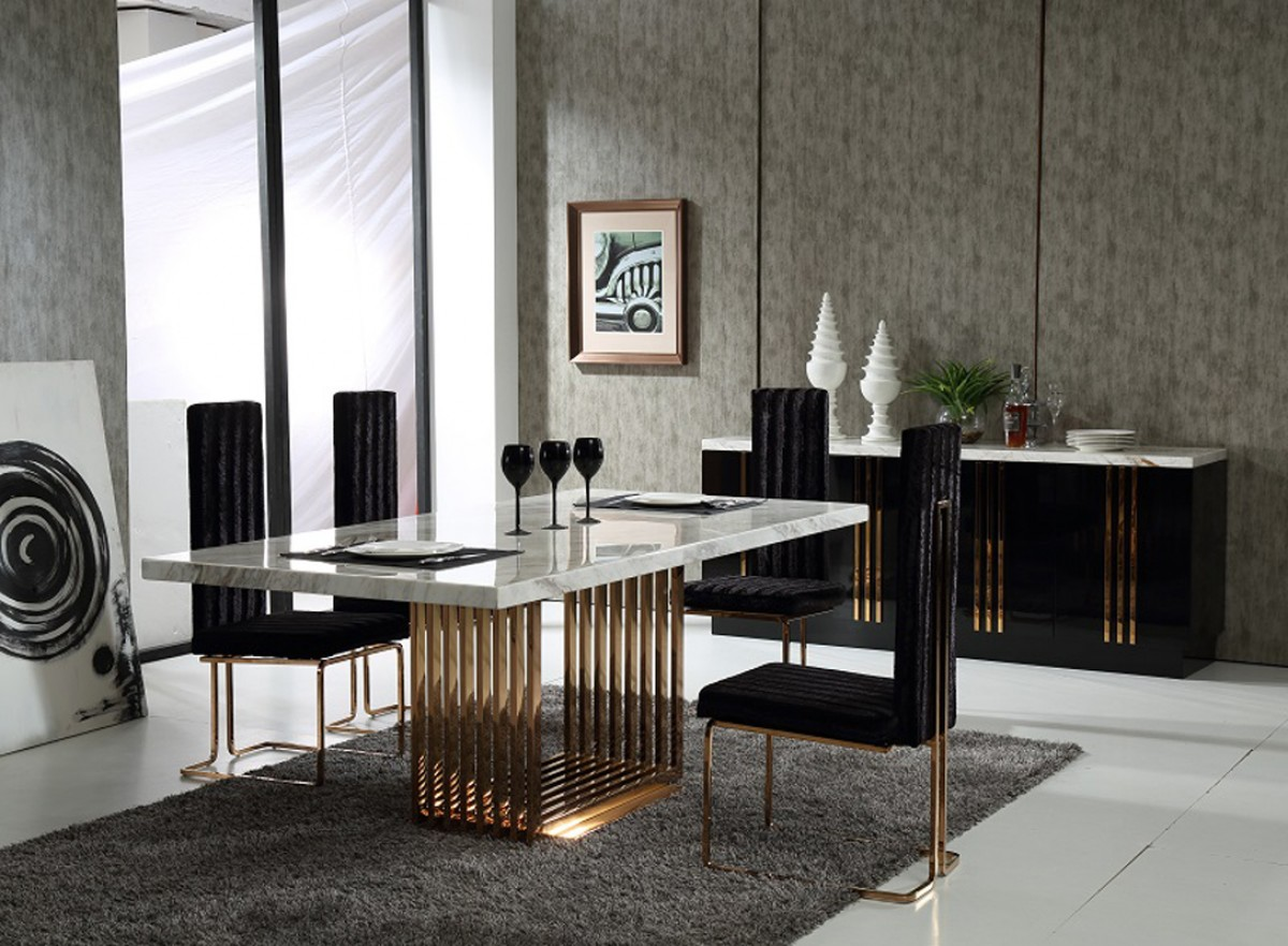 Dining Suites Melbourne Marble And Rosegold Dining Set Shop For Affordable Home