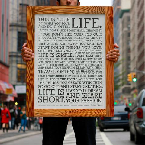 Sigue este manifiesto, te cambiará la vida