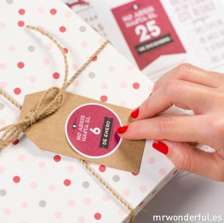 Mr.Wonderful: pegatinas navideñas